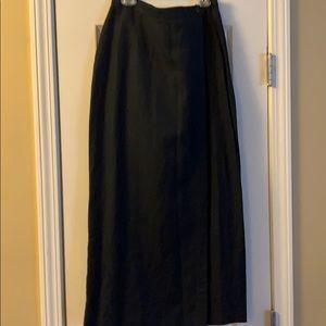 Linen Blend Long Skirt